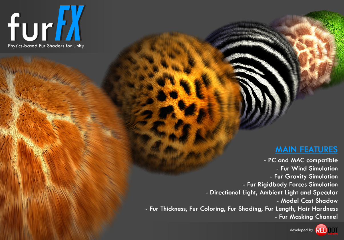 furFX - Physics-based Fur Shaders - Unity Forum